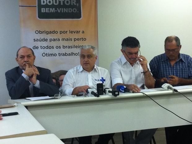 Governo do CE promove ato contra hostilidades a médicos estrangeiros (Foto: Gioras Xerez/G1 Ceará)