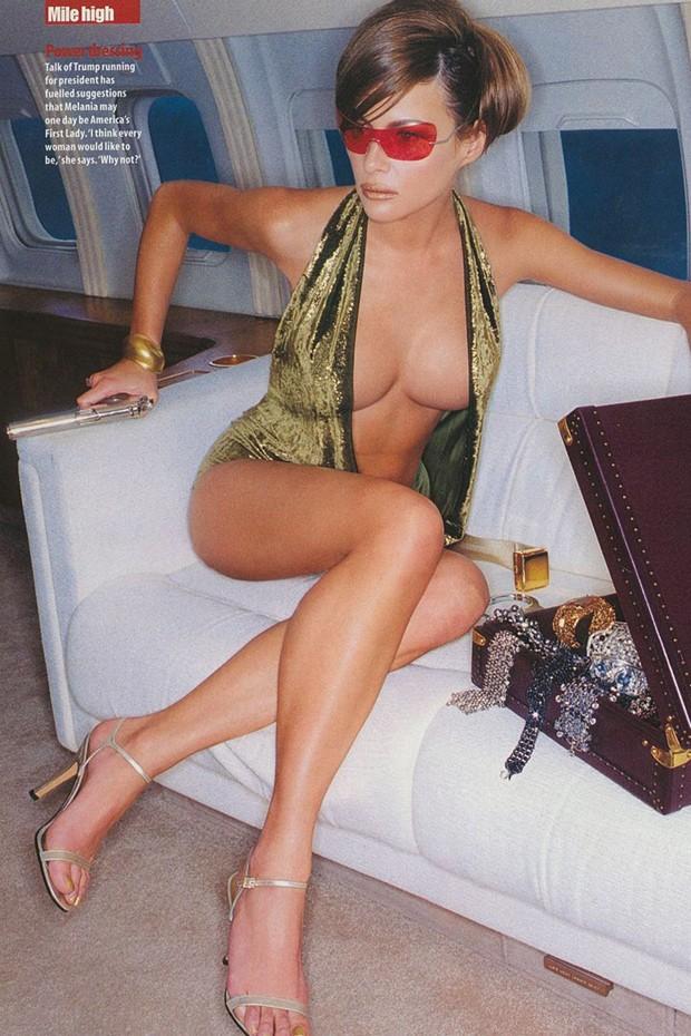 Melania Trump posa à vontade para a GQ britânica em 2000 (Foto: Reprodução/ Antoine Verglas)