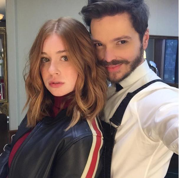 """""""O novo A-line haircut iluminado por Costatto"""", entrega Tiago Parente, hairstylist da famosa  (Foto: Reprodução/ Instagram)"""