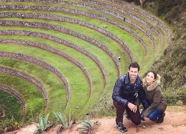 O casal Carol Celico e Eduardo Scarpa (Foto: Reprodução/Instagram)
