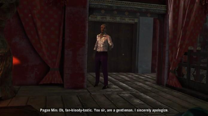 Pagan Min alterna entre sua face de assassino frio e de homem civilizado (Foto: Reprodução: YouTube)