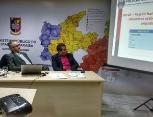 Reunião no Procom-PB sobre os estádios da Paraíba (Foto: Divulgação/FPF)