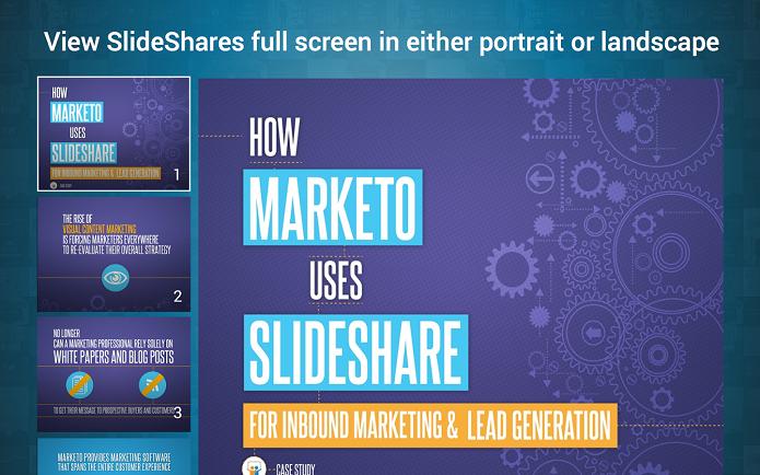 SlideShare Presentation App é um aplicativo para gerenciar slides no Android (Foto: Divulgação/SlideShare Presentation)