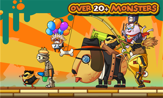 Monster Go é um game que mistura corrida infinita com RPG em altas emoções (Foto: Divulgação/Windows Phone Store)