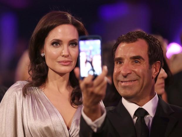 Angelina Jolie em premiação em Los Angeles, nos Estados Unidos (Foto: Christopher Polk/ Getty Images/ AFP)
