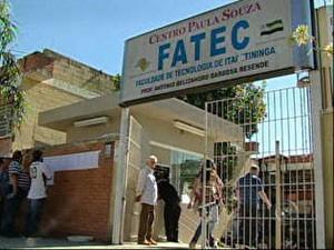 Fatecs oferecem 6 mil vagas (Foto: Reprodução/TV Tem)