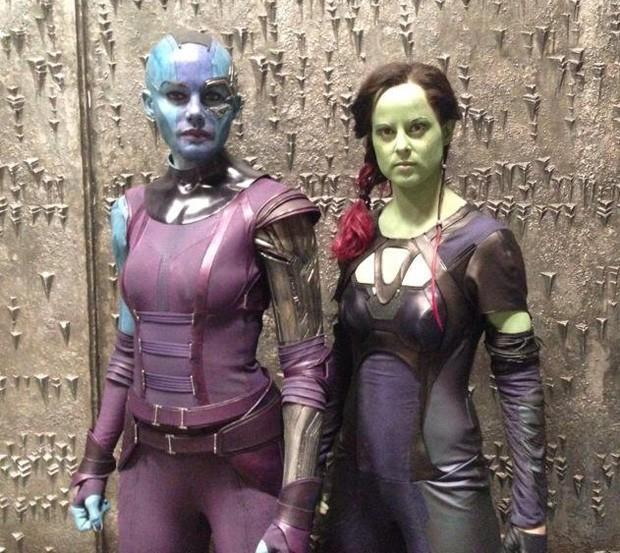 Olivia Jackson como dublê em 'Guardiões da Galáxia' (Foto: Reprodução)