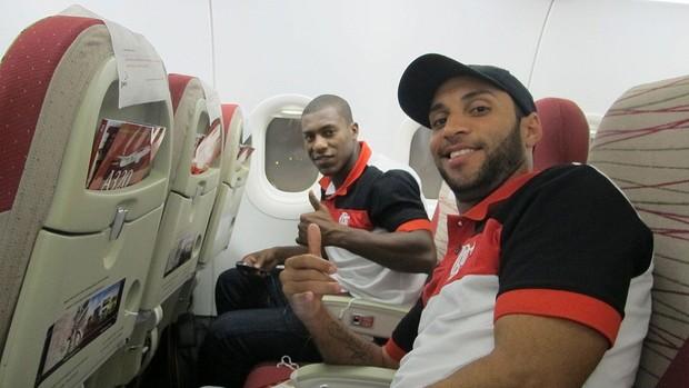 Desembarque do Flamengo (Foto: Janir Júnior / Globoesporte.com)