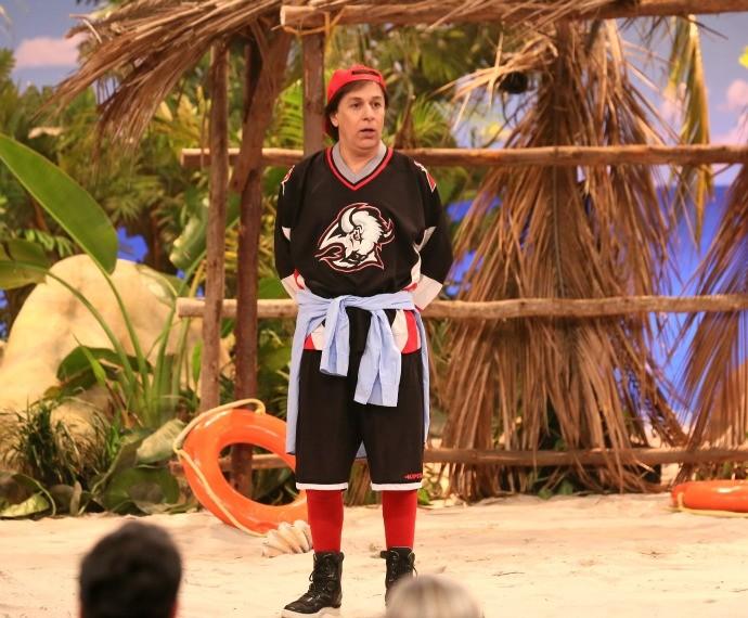 Tom Cavalcante animou a plateia com o personagem Ribamar (Foto: Isabella Pinhieor/Gshow)