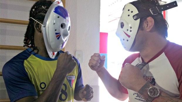 Rony Jason desafiou o jogador Geraldo, do Fortaleza (Foto: Diego Morais / Globoesporte.com)