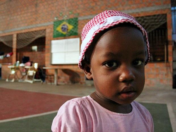 Milena Laura, 1 ano e 6 meses, é uma brasileira filha de haitianos que migraram para o Amazonas (Foto: Jamile Alves/G1 AM)
