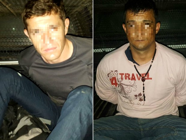 A partir da esquerda, Peterson Jorge Buss da Costa e Gélson Arena Cabrera (Foto: Divulgação/Polícia Militar)