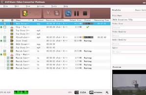 AVCWare Video Converter Platinum, conversor de arquivos