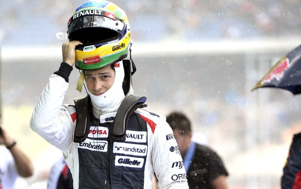 Bruno Senna no treino classificat&#243;rio do GP da Alemanha (Foto: AFP)
