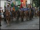 Participantes da Tropeada Paulista chegam a Itapetininga, SP