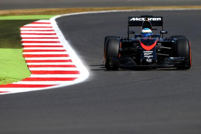 Foi em Silverstone, circuito da foto acima, que Fernando Alonso marcou seus primeiros pontos em 2015 (Foto: Getty Images)