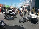 Acidente envolvendo três veículos deixa dois feridos no centro de Maceió