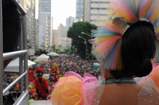 Milhares de pessoas não se intimidaram com o calor e se divertiram com o desfile (Foto: Roger Santmor/RPC TV)