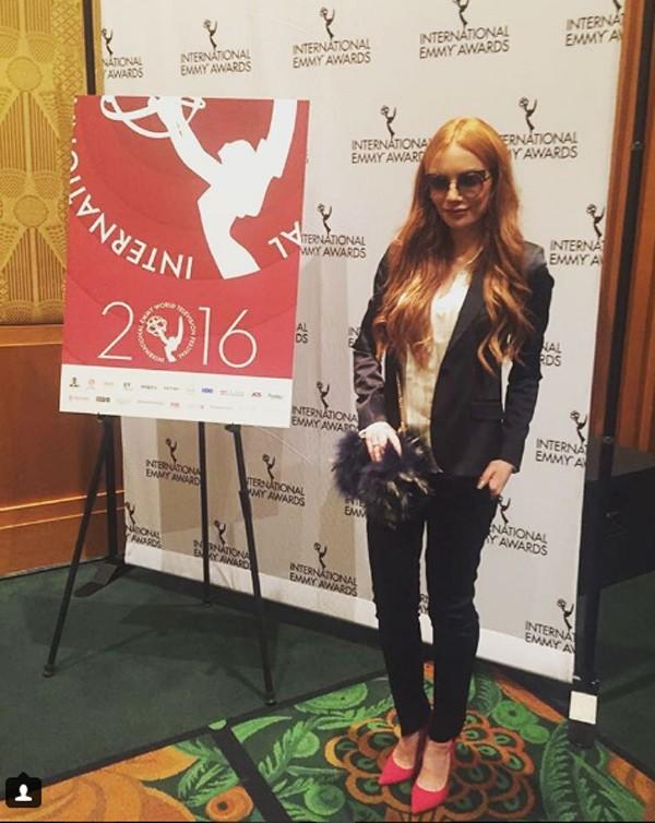 Maria Eugênica Susonic em evento do Emmy (Foto: Reprodução / Instagram)
