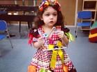 Tania Mara mostra filha Maysa com roupa caipira