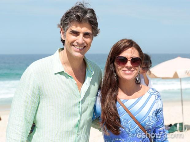 Os atores são pura simpatia nos bastidores (Foto: Felipe Monteiro/TV Globo)