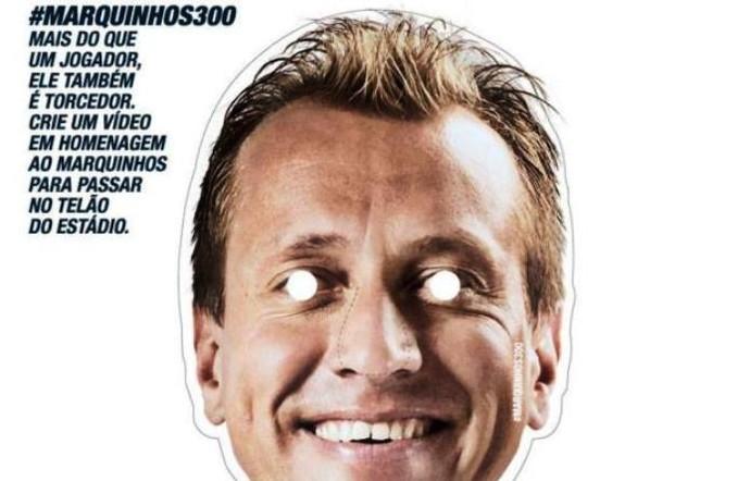 Máscara Marquinhos (Foto: Reprodução/Avaí F.C.)