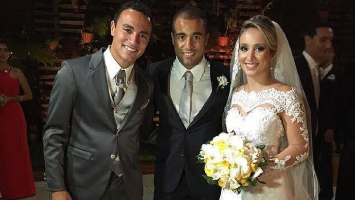 Lucas foi padrinho de casamento de Alfredo (Foto: Arquivo Pessoal)