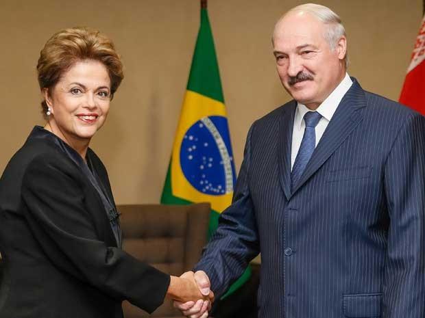 Presidenta Dilma Rousseff durante encontro com Alexander Lukashenko, presidente da República de Belarus (Foto: Roberto Stuckert Filho / Presidência da República)