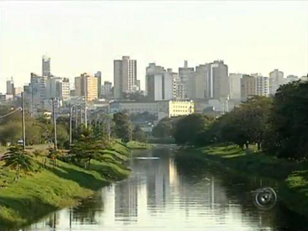 Rio Sorocaba, em Sorocaba (Foto: Reprodução/TV TEM)