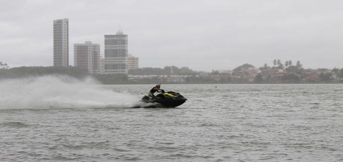 Motos aquáticas tomam conta do Velho Chico (Foto: Emerson Rocha)