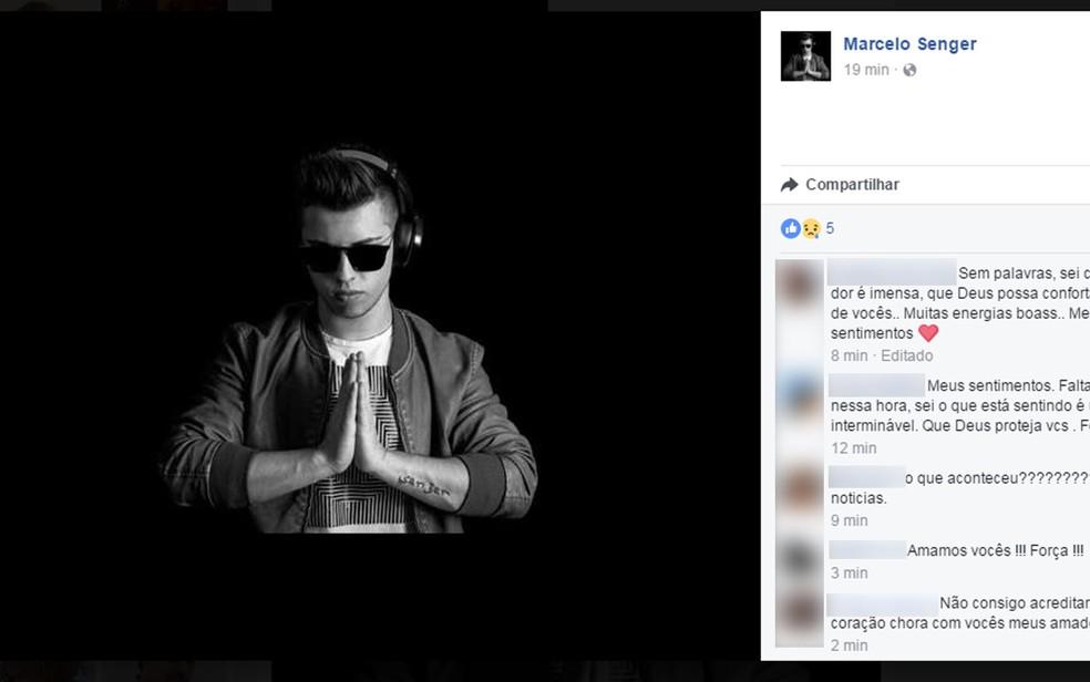 Foto de Athur Senger postada pelo pai, Marcelo Senger, em rede social após a morte do jovem (Foto: Reprodução / Facebook)