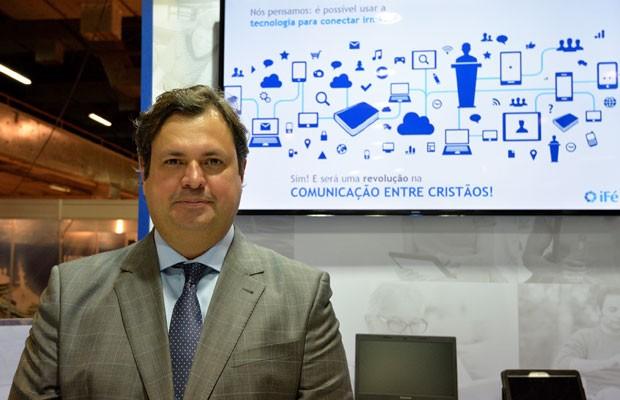 Julio Marcelino, um dos criadores do iFé, aplicativo que conecta igrejas a evangélicos. (Foto: Divulgação/iFé)