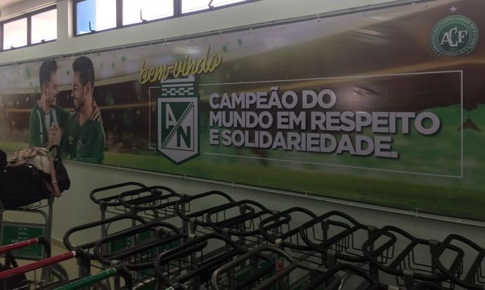 Chapecó prepara homenagem para Atlético Nacional (Foto: Cahê Mota / GloboEsporte.com)