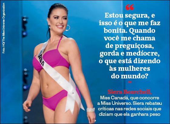 Frases que resumem a semana | Siera Bearchell (Foto: HO/The Miss Universe Organization)