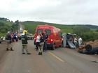 Colisão entre carro e camionete deixa um morto e dois feridos no RS