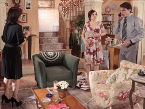 Em cena, os três estão mostrando total sintonia (Foto: Guerra dos Sexos/ TV Globo)