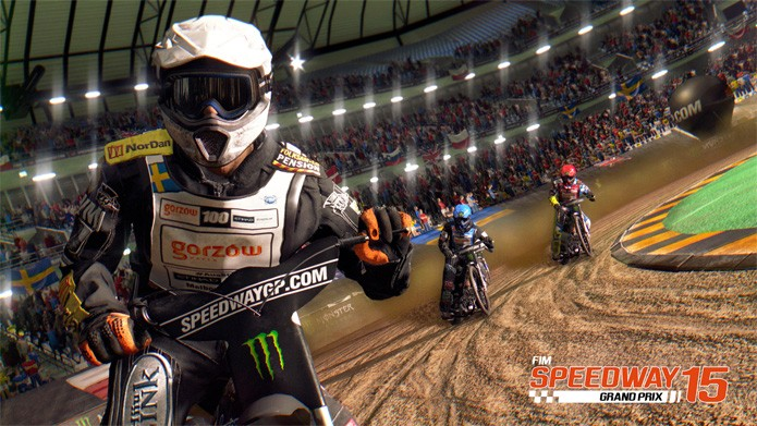 Controlar a sua moto nos circuitos é o maior desafio do game (Foto: Divulgação Softplanet)