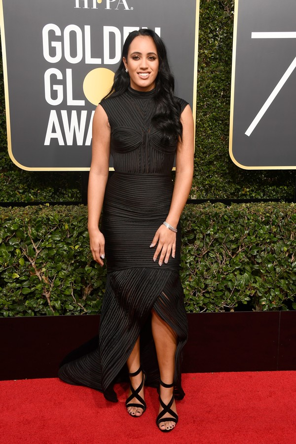 BEVERLY HILLS, CA - JANUARY 07:  Simone Alexandra Johnson attends The 75th Annual Golden Globe Awards at The Beverly Hilton Hotel on January 7, 2018 in Beverly Hills, California.  (Photo by Frazer Harrison/Getty Images) (Foto: Getty Images)