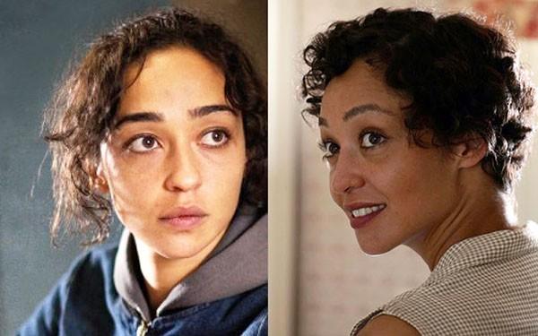 Ruth Negga em 'Capital Letters' (2004) e em 'Loving' (2016) (Foto: Divulgação)
