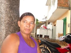 Cleonive Alves da Silva presta depoimento sobre a morte do filho de 11 anos (Foto: Fabiana De Mutiis/G1)