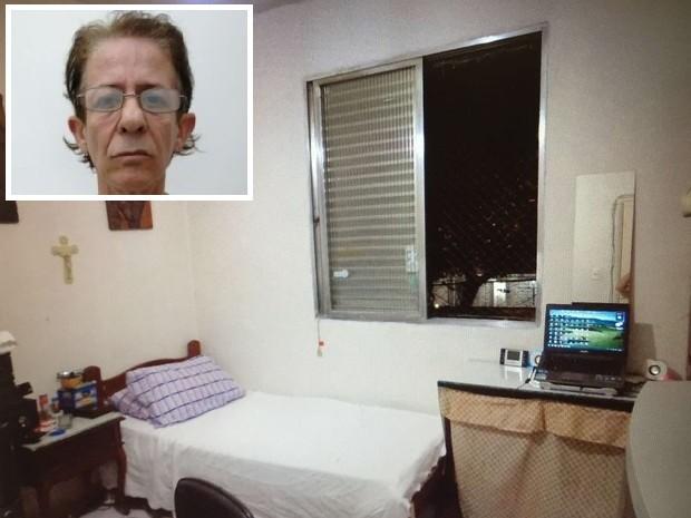 Suspeito cometeu alguns dos abusos em quarto de seu apartamento em Santos (Foto: G1)