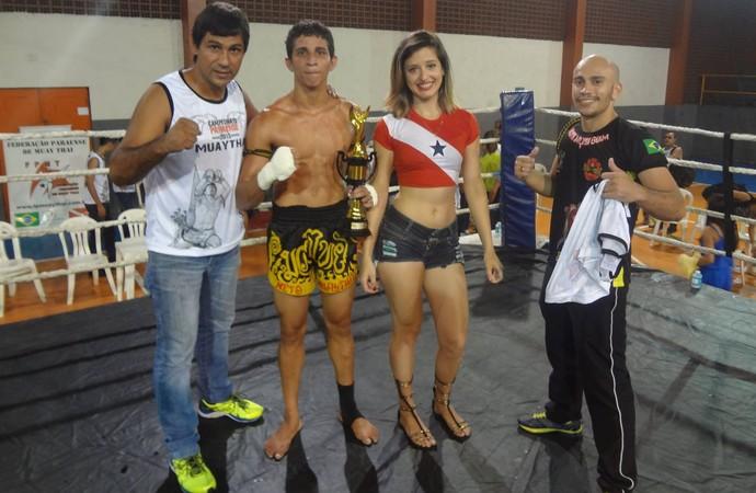 É Campeão! Atleta do Amapá fatura campeonato paraense de Muay Thai (Foto: Reprodução/Facebook)