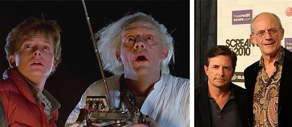 Michael J. Fox e Christopher Lloyd, o Marty McFly e o Doc Brown de De Volta Para o Futuro (Foto: Reprodução//Getty Images)