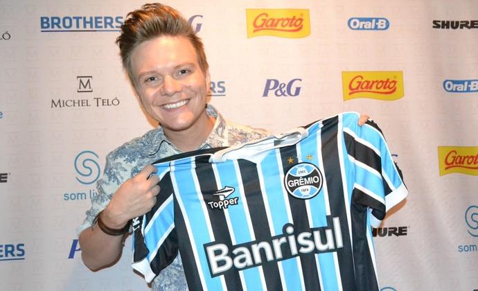 Cantor Michel Teló Grêmio (Foto: Filipe Rodrigues)