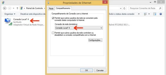 Caixa de propriedades de Ethernet com indicações da conexão (Foto: Reprodução/Raquel Freire)