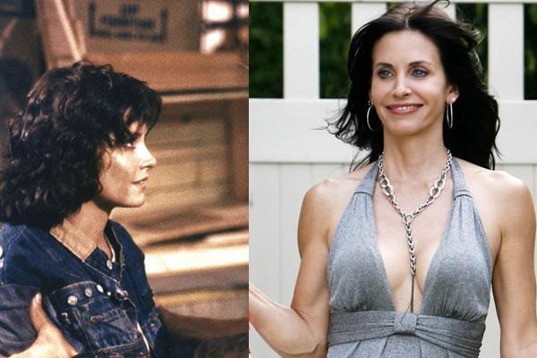 Ah, se o Chandler soubesse disso... Courteney Cox, a Monica, de 'Friends', começou no cinema com 'Mestres do Universo', filme que tem He-Man e Skeletor, com direito a muitos efeitos especiais do fim dos anos 80. Hoje ela brilha como Jules em 'Cougar Town'. (Foto: Divulgação)