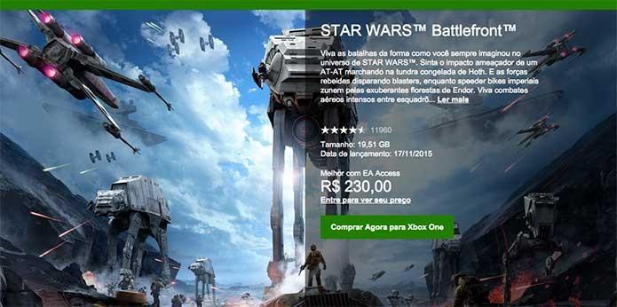 Star Wars Battlefront na Xbox Live (Foto: Reprodução/Felipe Vinha)