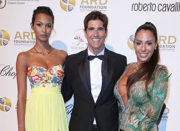 Lais Ribeiro, Reynaldo Gianecchini e Ana Paola Diniz (Foto: Getty Images)