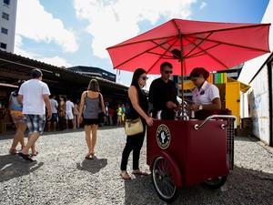 Feira gastronômica oferecé diversas atrações aos consumidores (Foto: Jonathan Lins)