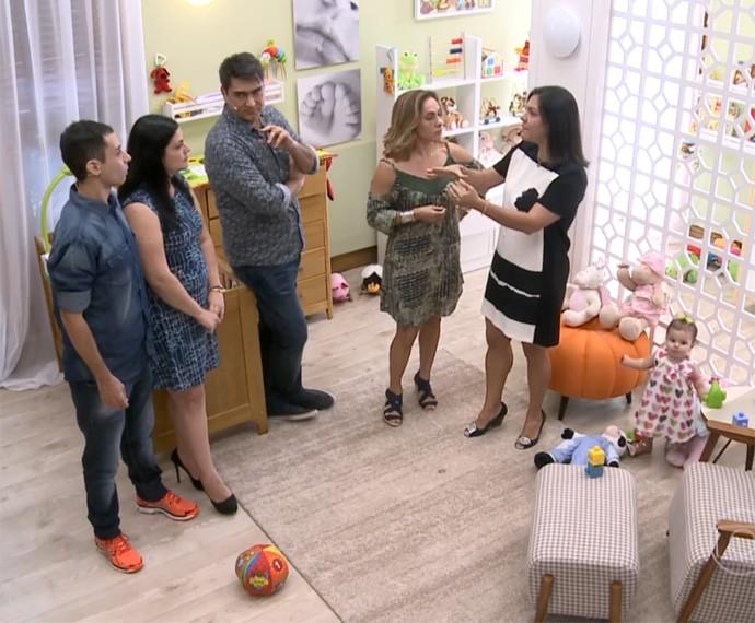 Andréa Colpas explicou que todo o cuidado é pouco com os pequeninos (Foto: Globo)